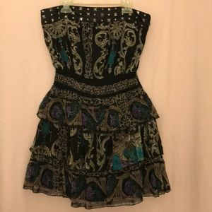 2b bebe sexy strapless lined mini dress size S